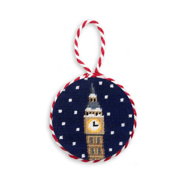 Snowy Big Ben Needlepoint Ornament by Smathers & Branson