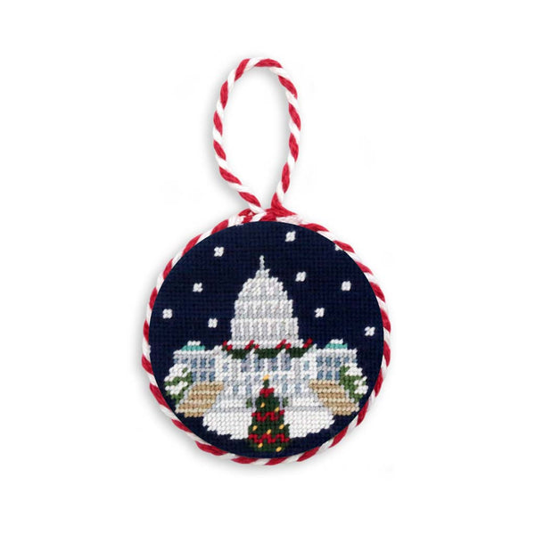 Snowy Capitol Needlepoint Ornament by Smathers & Branson
