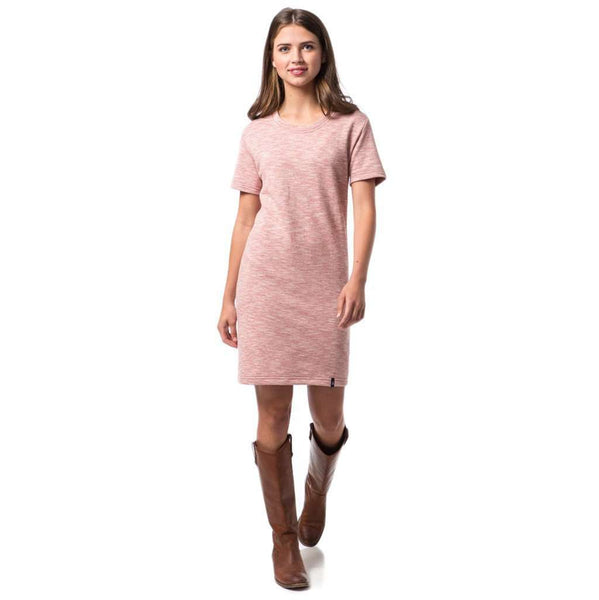Sophie Tee Dress in Rhubarb Red by Southern Proper  - 1