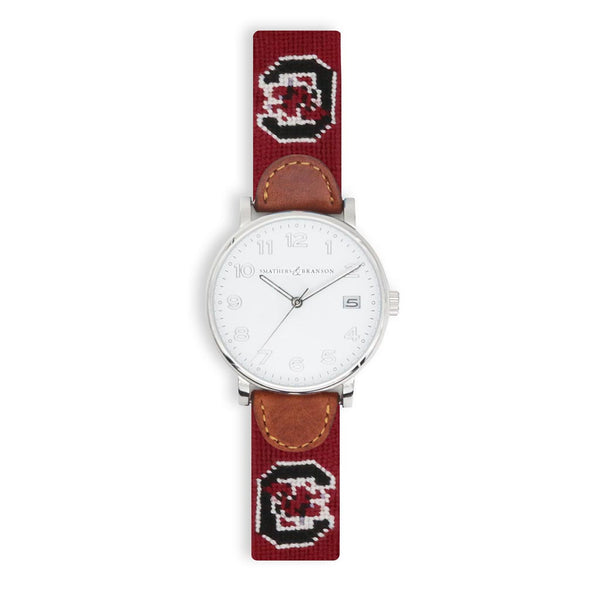 University of South Carolina Needlepoint Watch by Smathers & Branson