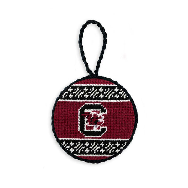 South Carolina Fairisle Needlepoint Ornament by Smathers & Branson