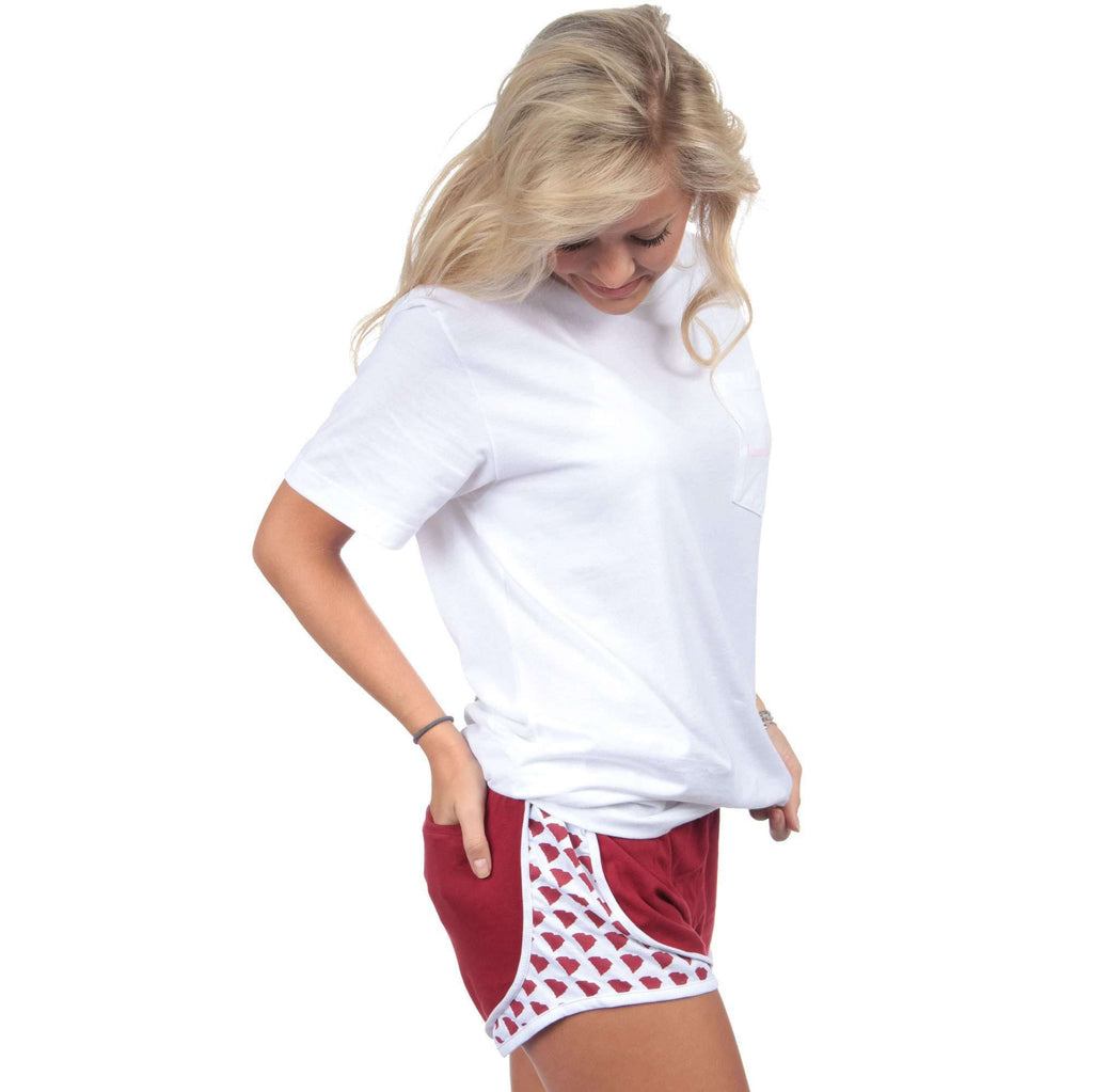 South Carolina Jersey Shorties in Crimson by Lauren James  - 1