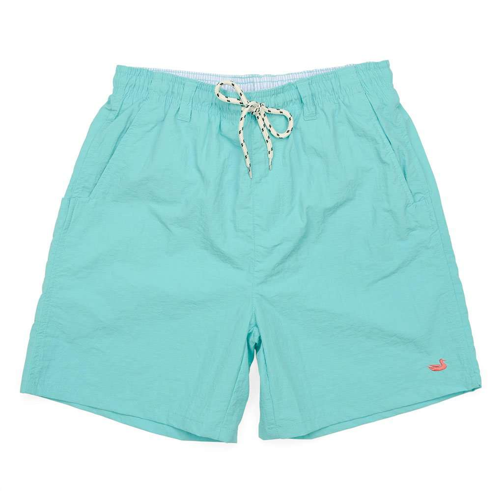 YOUTH Dockside Swim Trunk in Aqua Blue by Southern Marsh