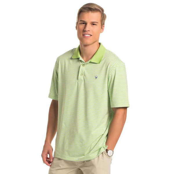 Peabody Stripe Polo in Jade Lime by The Southern Shirt Co.. - FINAL SALE
