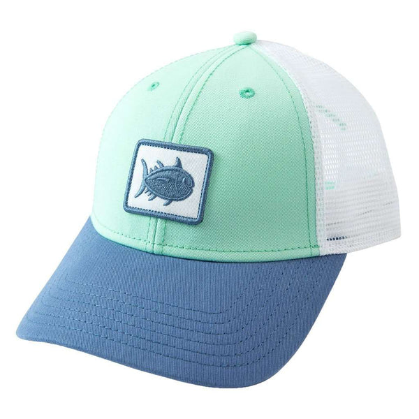 Southern Tide Women's Skipjack Patch Trucker Hat in Offshore Green