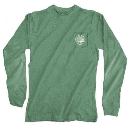 "Southern Essentials ""Duck Hunt"" Long Sleeve Tee in Light Green by Live Oak - FINAL SALE"