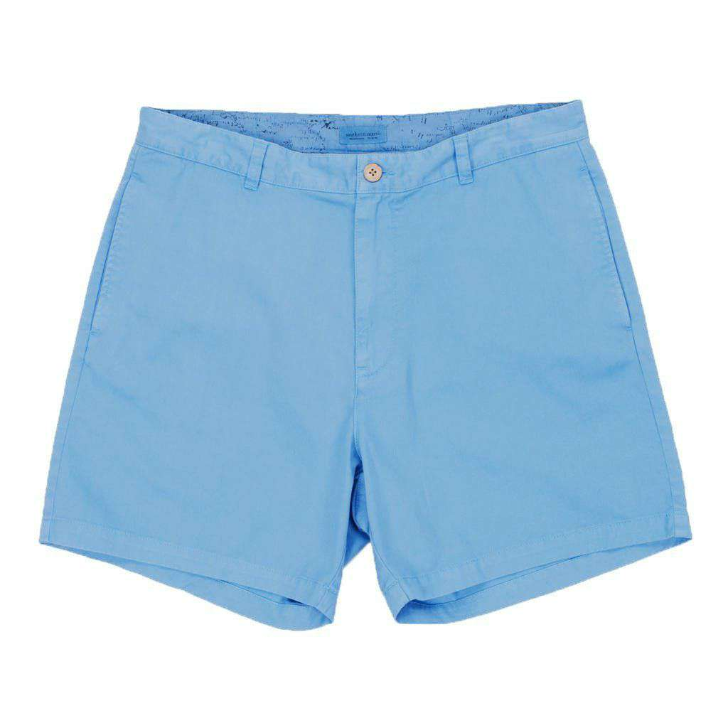 "6"" SEAWASH™ Charleston Short in Light Blue by Southern Marsh"