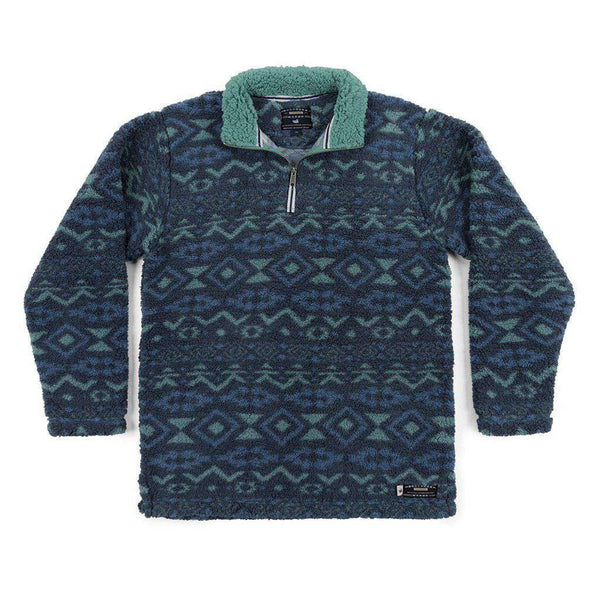 Southern Marsh Appalachian Peak Sherpa Pullover in Slate and Mint