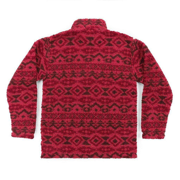 Southern Marsh Appalachian Peak Sherpa Pullover in Washed Red and Brown
