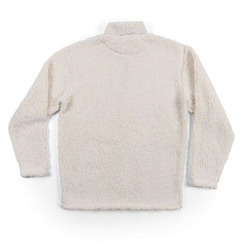 Southern Marsh Appalachian Pile Pullover 1/4 Zip in White
