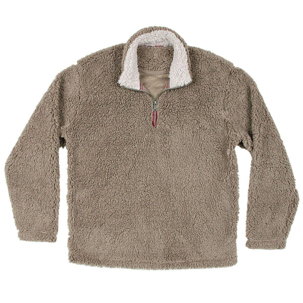 Appalachian Pile Pullover 1/4 Zip in Light Brown by Southern Marsh 1