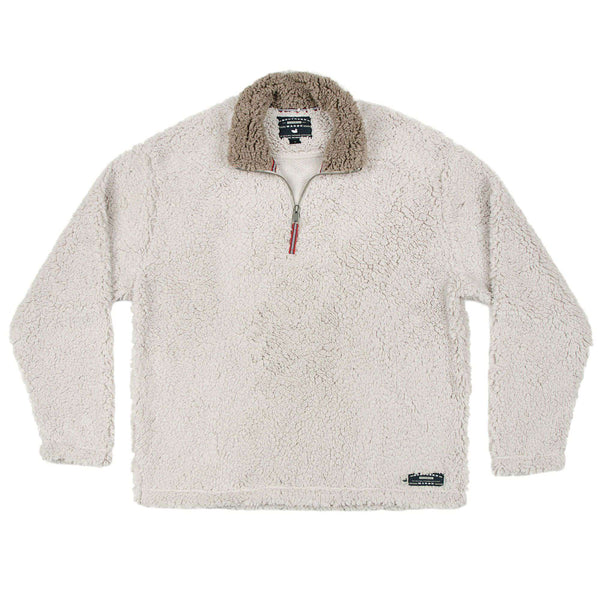 Appalachian Pile Pullover 1/4 Zip in Oatmeal by Southern Marsh