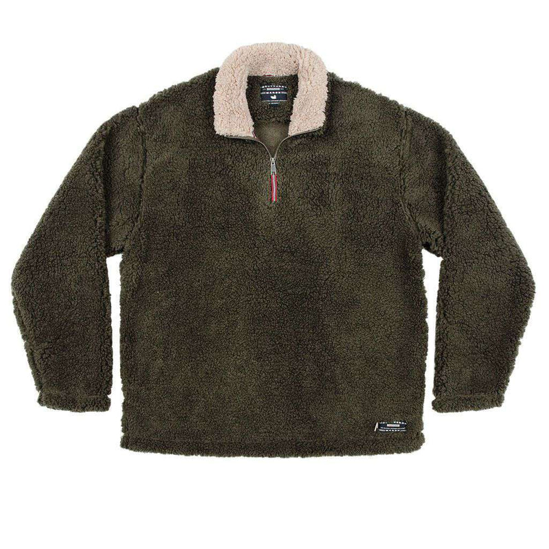 Appalachian Pile Pullover 1/4 Zip in Stone Brown by Southern Marsh  - 3