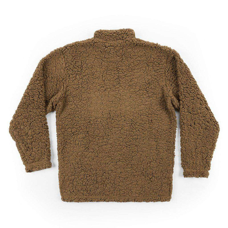 Appalachian Pile Pullover 1/4 Zip in Brown by Southern Marsh