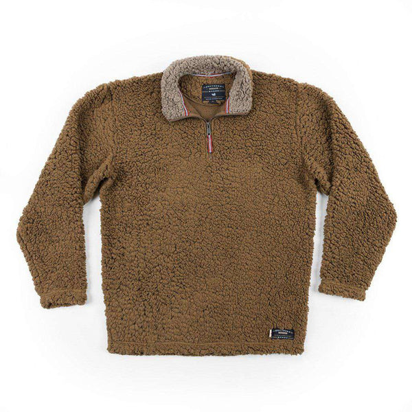 Southern Marsh Appalachian Pile Pullover in Brown