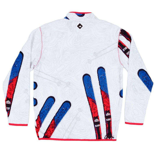 Southern Marsh Aspen Backcountry Pullover in White & Red