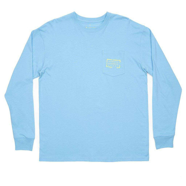 Authentic Long Sleeve Tee in Breaker Blue by Southern Marsh