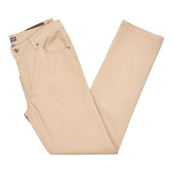 Brazos Stretch Twill Pant in Khaki by Southern Marsh