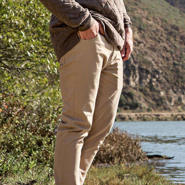 Southern Marsh Brazos Stretch Twill Pant in Khaki