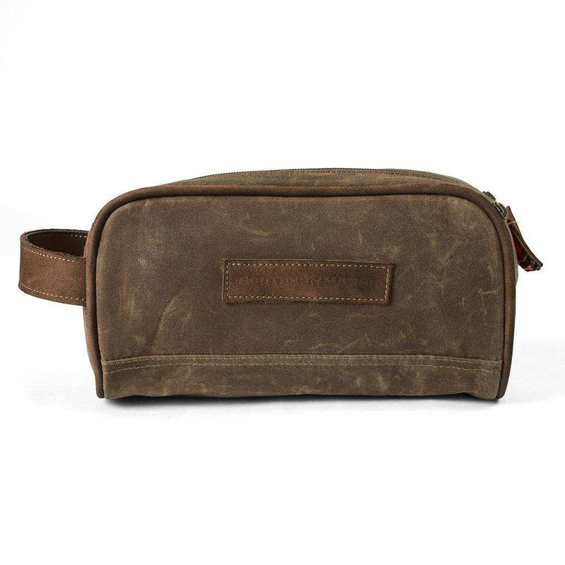 Dewberry Waxed Travel Kit in Dark Brown by Southern Marsh