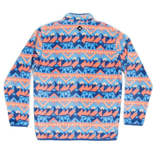 Southern Marsh Fairbanks Pullover in Navy & Peach