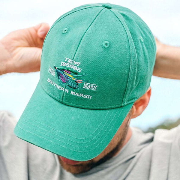 Southern Marsh Gunnison Embroidered Hat in Washed Bimini Green