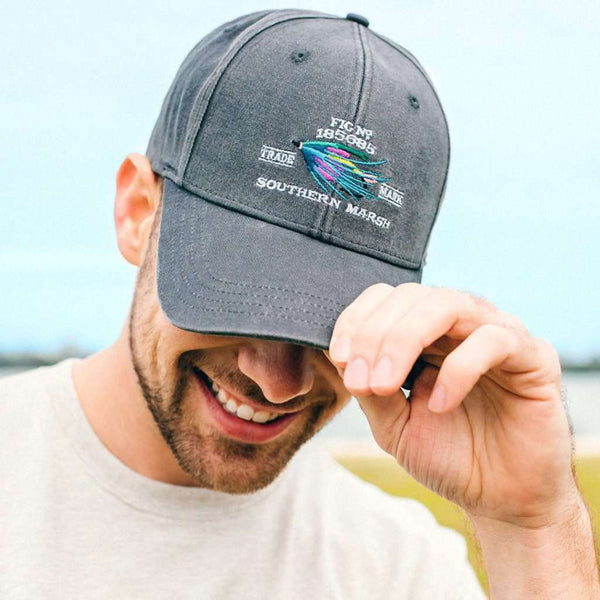 Gunnison Embroidered Hat in Washed Slate by Southern Marsh
