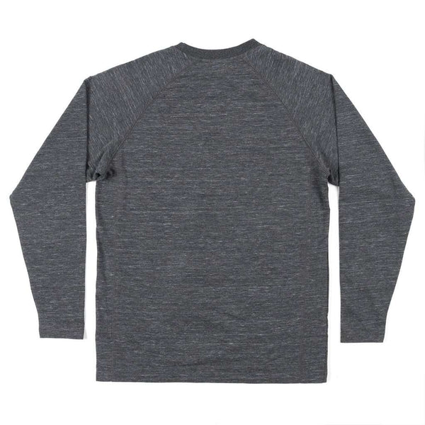 Southern Marsh Hearth French Terry Long Sleeve Tee in Midnight Gray