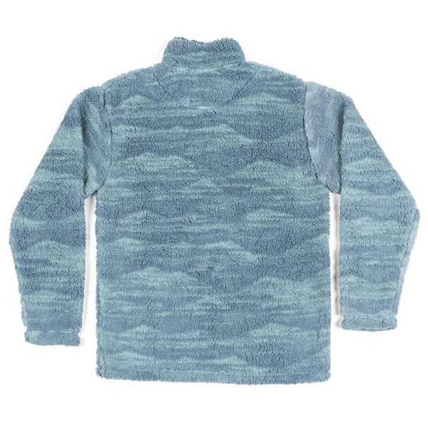 High Mesa Sherpa Pullover in Slate & Mint by Southern Marsh - FINAL SALE