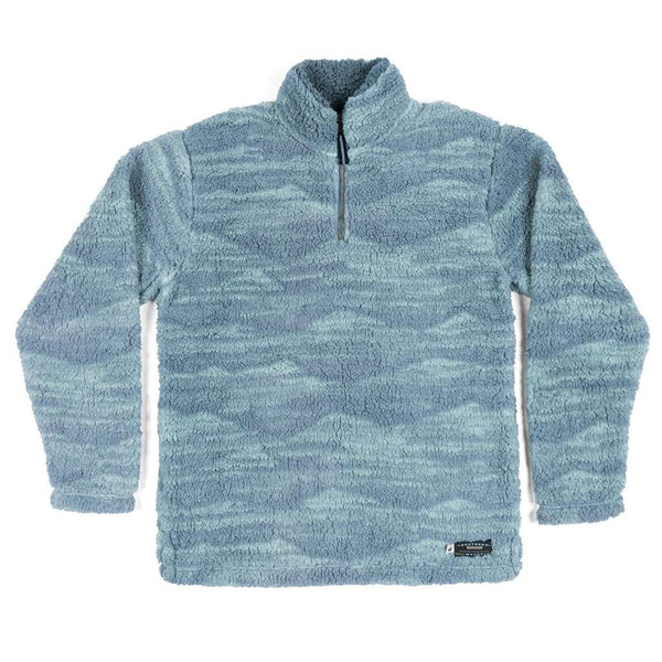 Southern Marsh High Mesa Sherpa Pullover in Slate & Mint