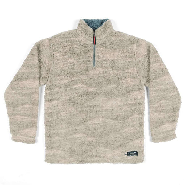 Southern Marsh High Mesa Sherpa Pullover in Stone Brown & Tan
