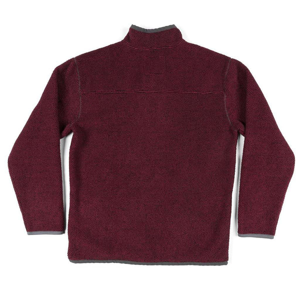 Southern Marsh Highland Alpaca Pullover in Maroon