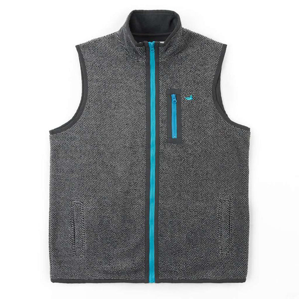 Southern Marsh Highland Alpaca Vest in Charcoal Gray
