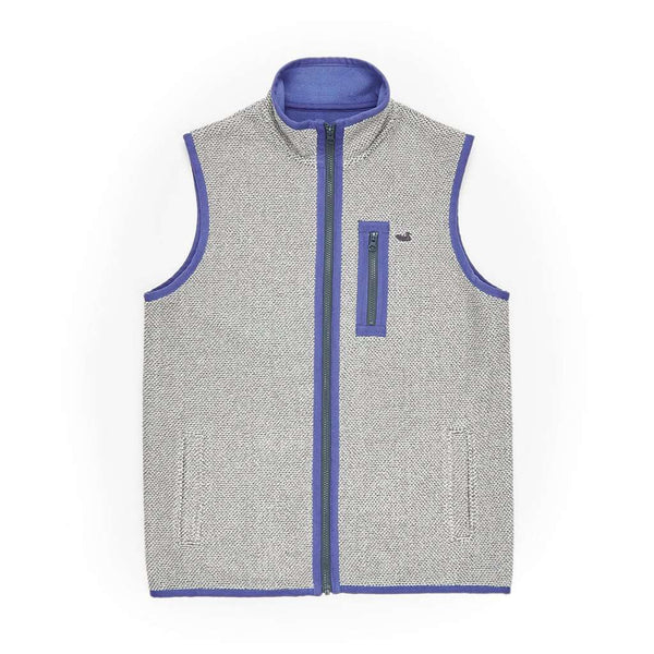 Southern Marsh Highland Alpaca Vest in Light Gray