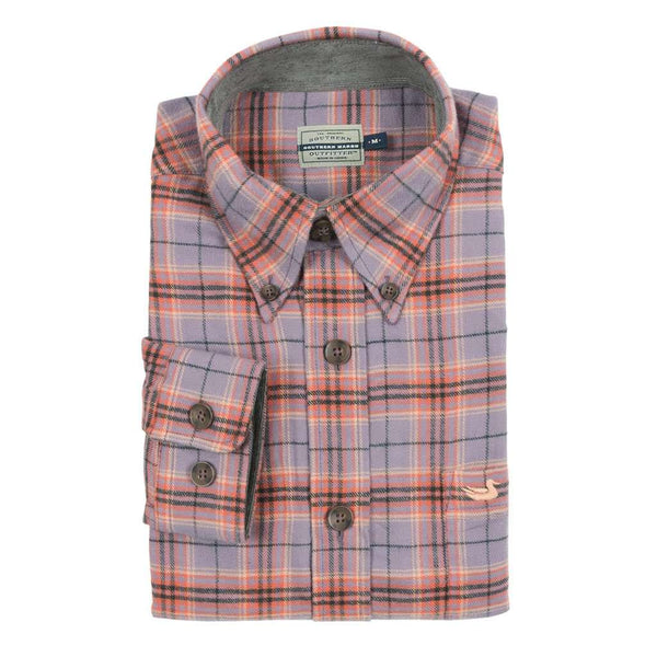 Southern Marsh Hindman Flannel in Lavender & Peach