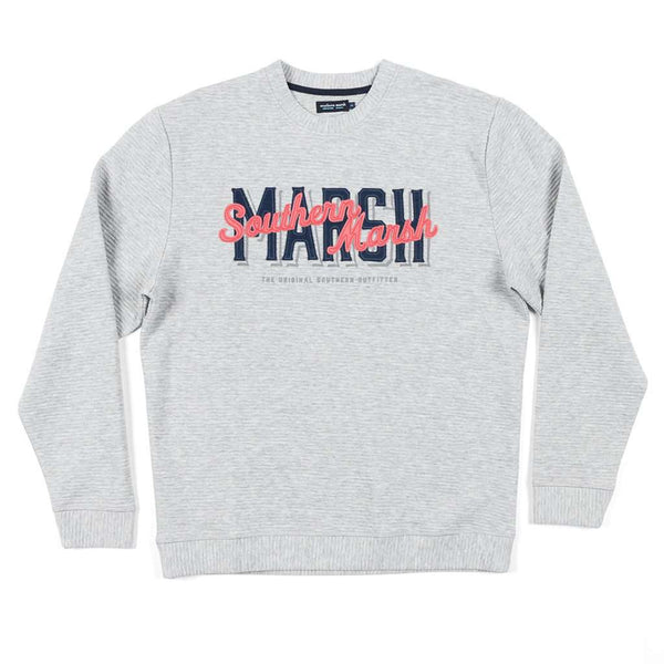 Southern Marsh Hyannis Ridged Sweatshirt in Light Gray