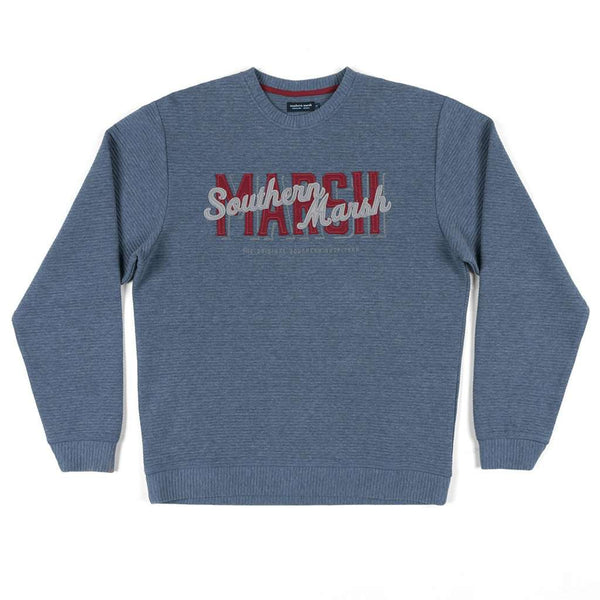 Southern Marsh Hyannis Ridged Sweatshirt in Navy