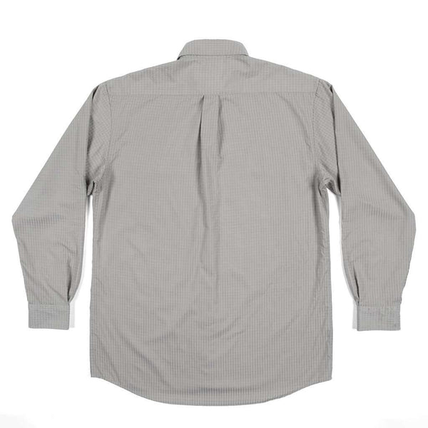 Leeward Textured Grit Shirt in Burnt Taupe by Southern Marsh - FINAL SALE