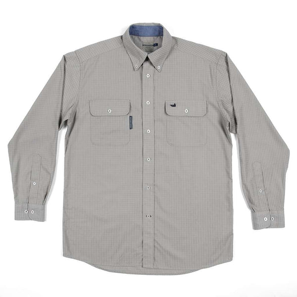 Southern Marsh Leeward Textured Grit Shirt in Burnt Taupe