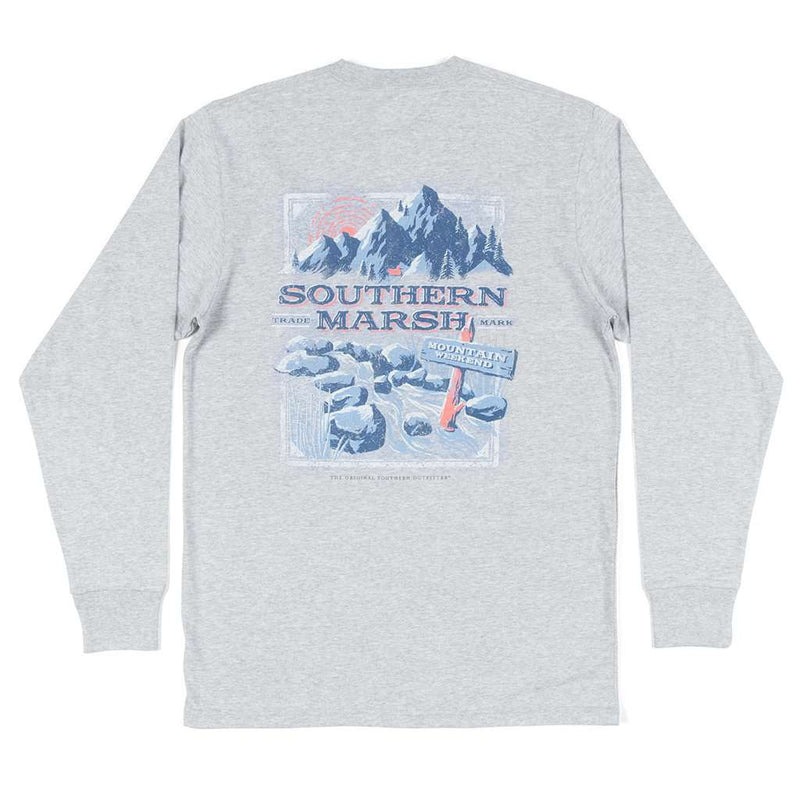 Southern Marsh Long Sleeve Mountain Weekend Tee in Light Gray