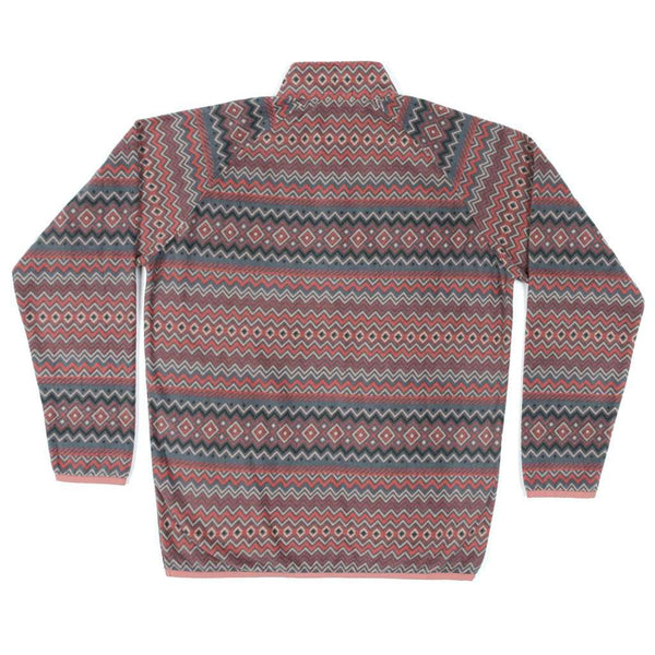 Southern Marsh Marrakesh Stripe Pullover in Burnt Taupe & Washed Red
