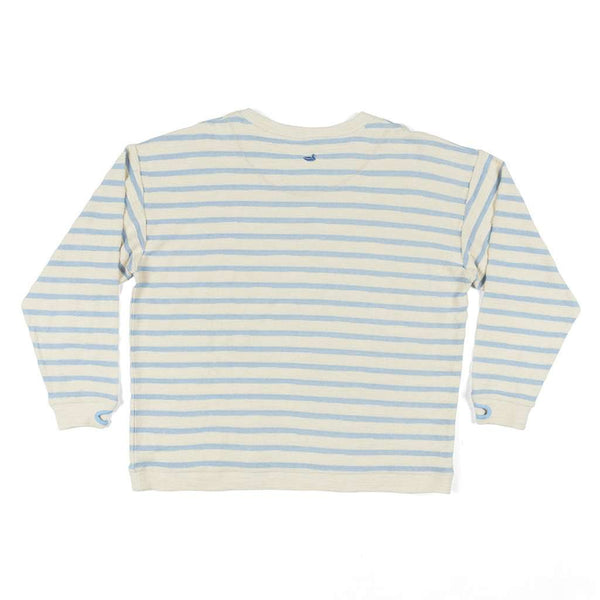 Nautical Stripe Sunday Morning Sweater in French Blue by Southern Marsh - FINAL SALE