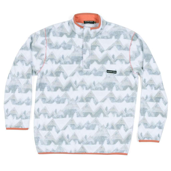 Southern Marsh North Basin Pullover in White & Gray