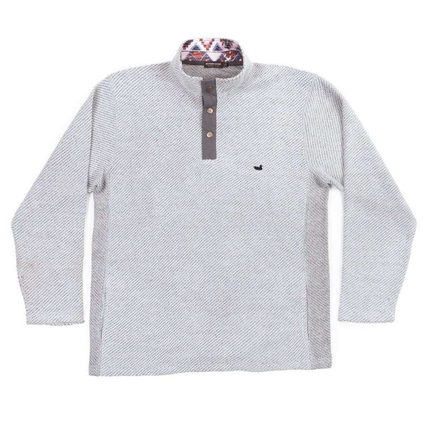 Southern Marsh Pawleys Rope Pullover in Light Gray
