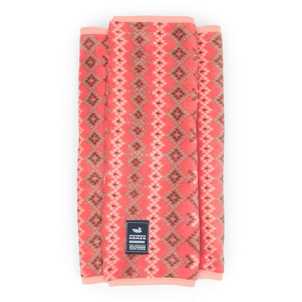 Southern Marsh Pisgah Aztec Scarf in Washed Red