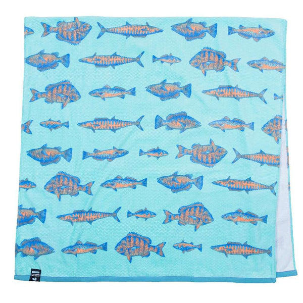 Riptide Beach Towel in Antigua Blue by Southern Marsh - FINAL SALE