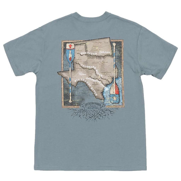 Southern Marsh River Route Collection - Texas & Oklahoma Tee in Burnt Sage