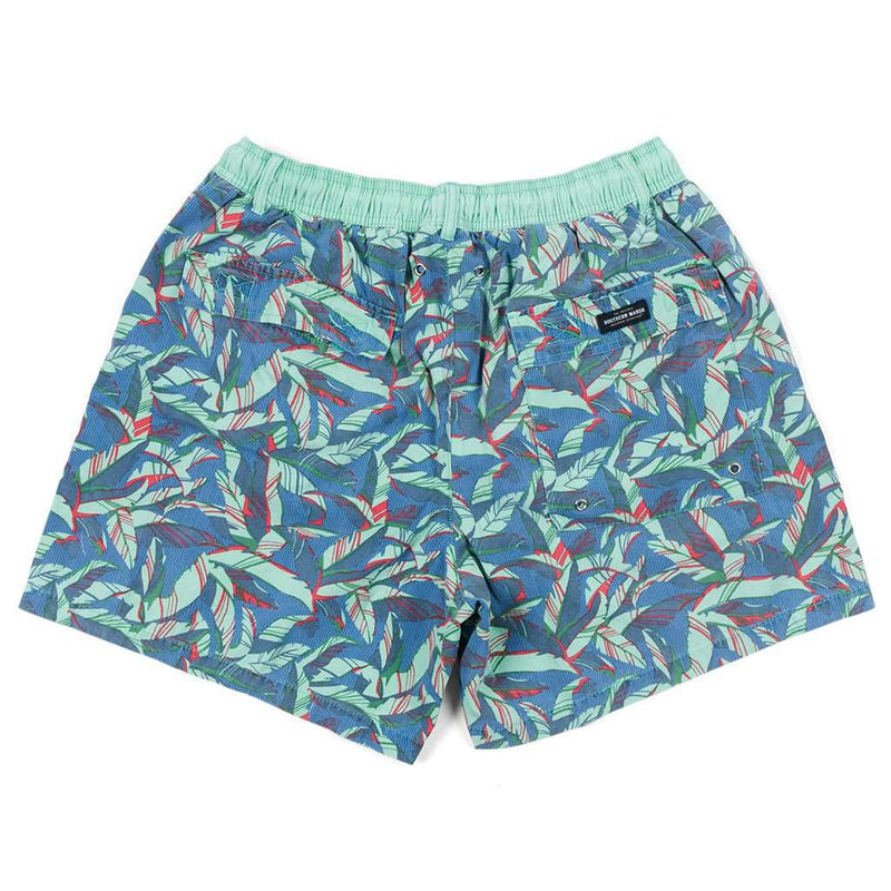 SEAWASH Bayside Shoals Swim Trunk in French Blue by Southern Marsh