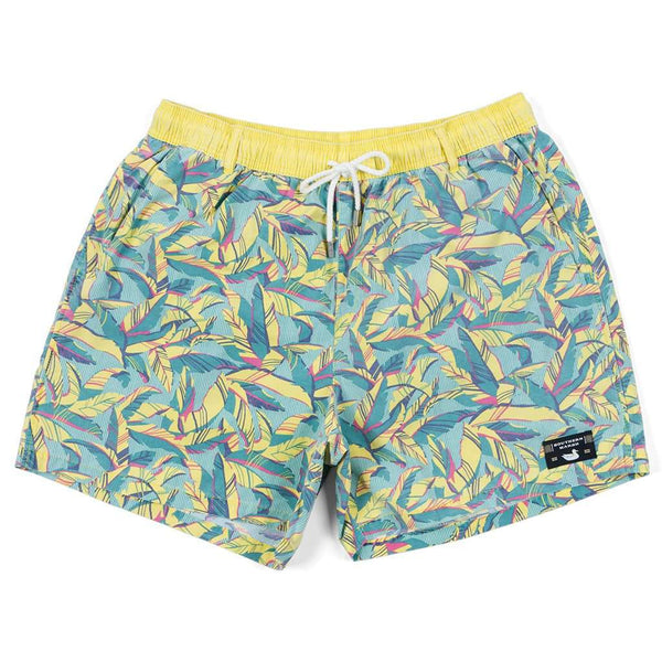 Southern Marsh SEAWASH™ Bayside Shoals Swim Trunk in Teal