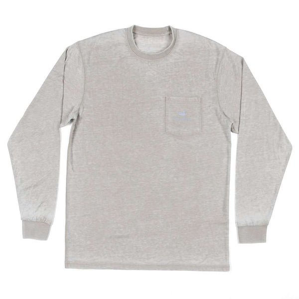 "Southern Marsh SEAWASHâ""¢ Long Sleeve Paddle Tee in Burnt Taupe"